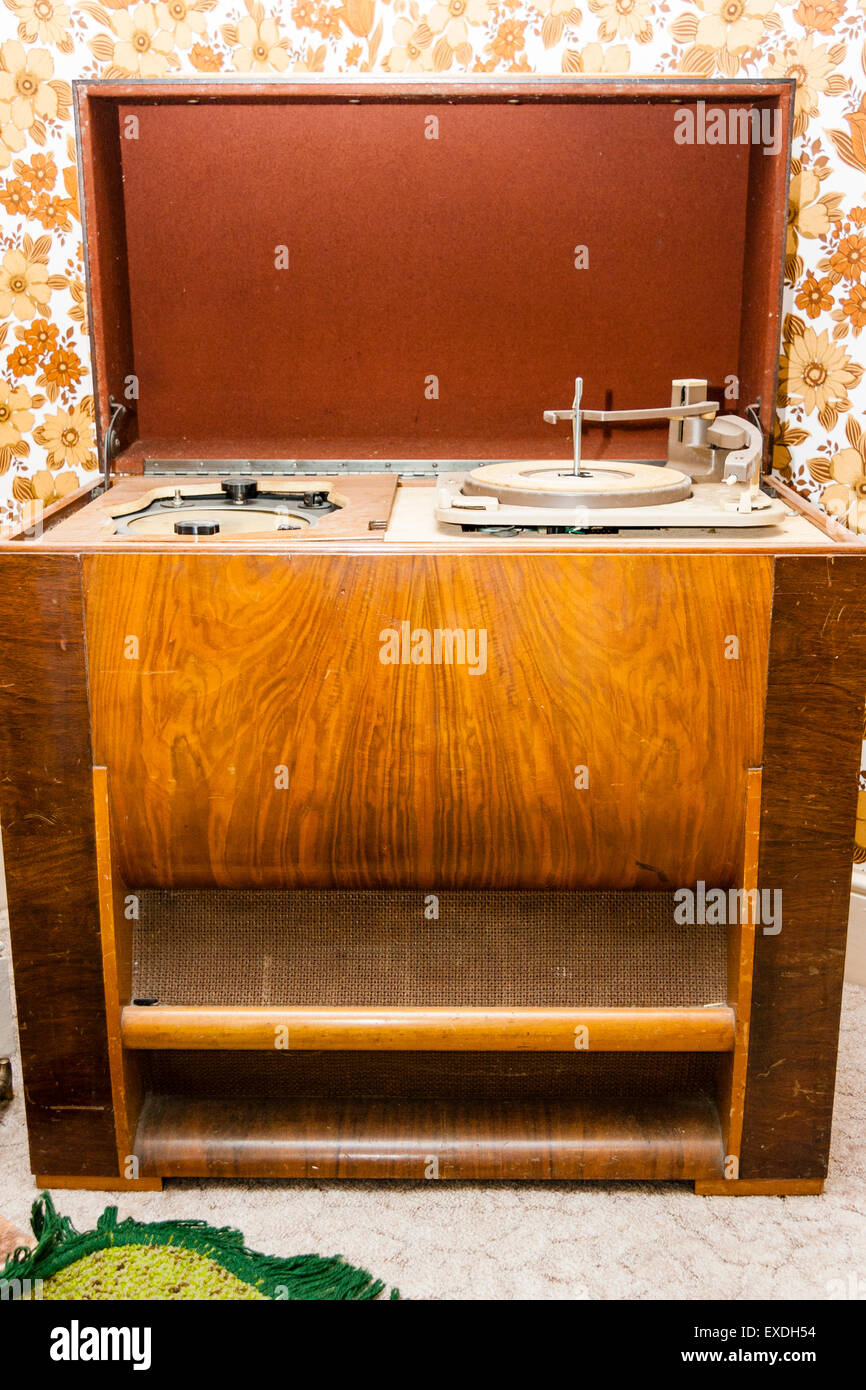 Vintage Record Player Cabinet Stock Photos Vintage Record