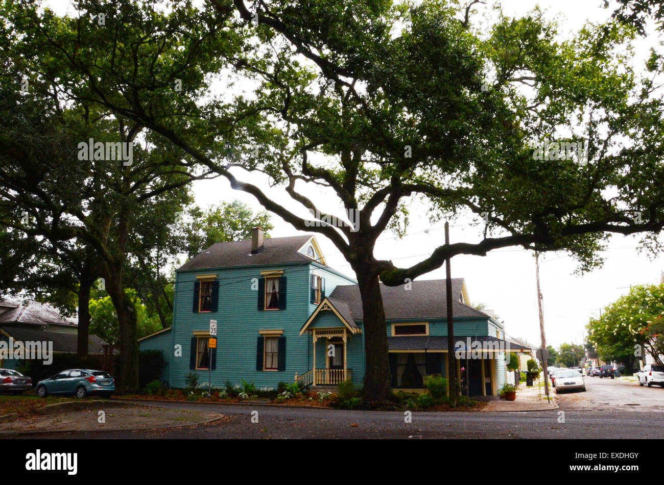 algiers new orleans houses louisiana - Stock Image
