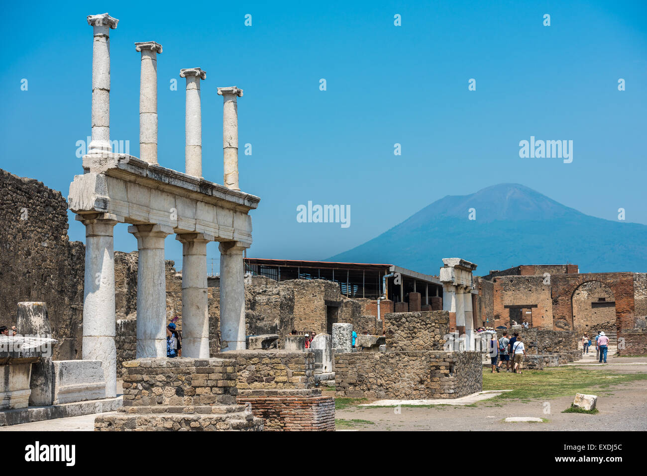 Ruins of ancient Pompeii, Italy - Stock Image