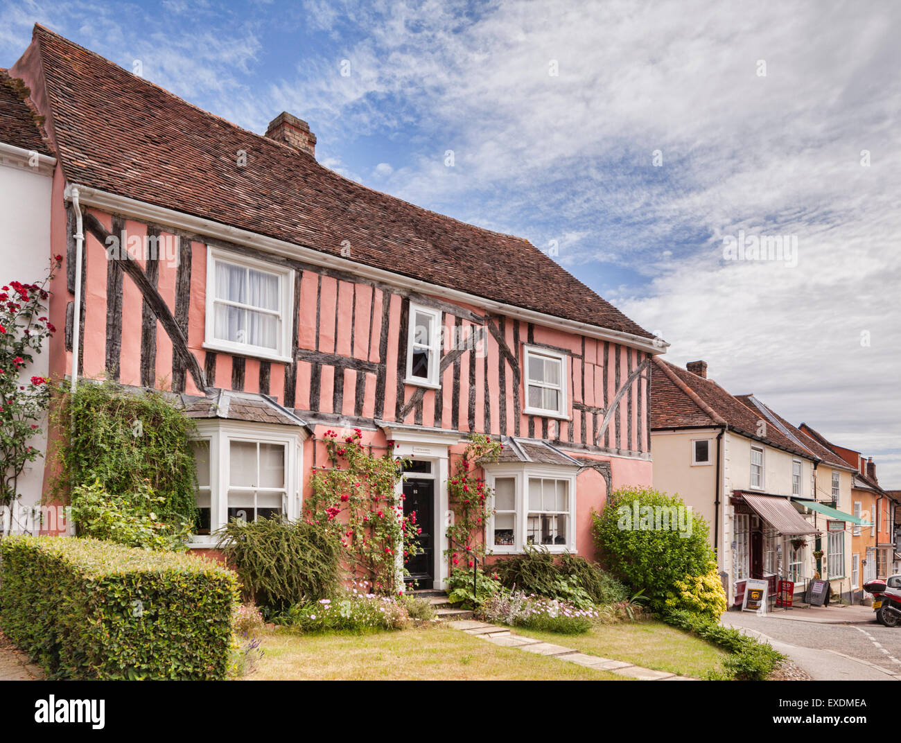 Half timbered house in Lavenham, Suffolk, England. - Stock Image
