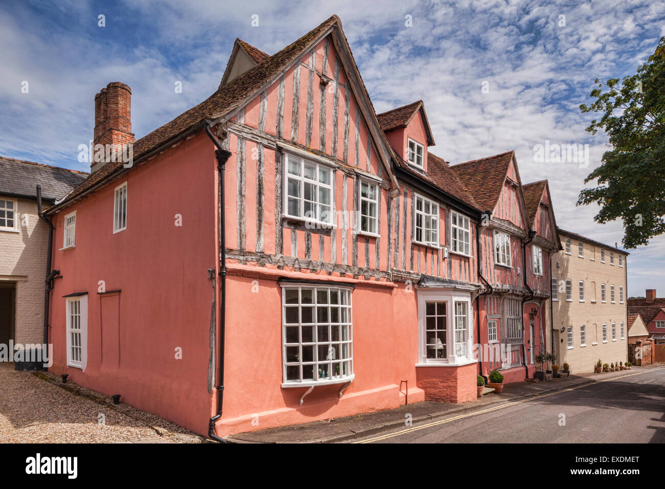 The Old Grammar School, Lavenham, which John Constable briefly attended, Lavenham, Suffolk, England - Stock Image