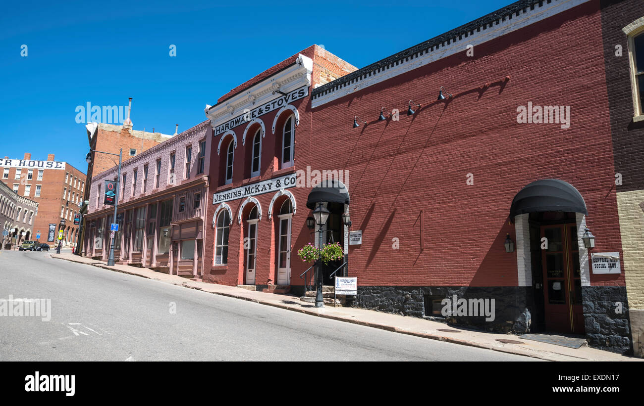 Ancient building  'Hardware & Stoves', Central City , Colorado, USA, North America, United States - Stock Image