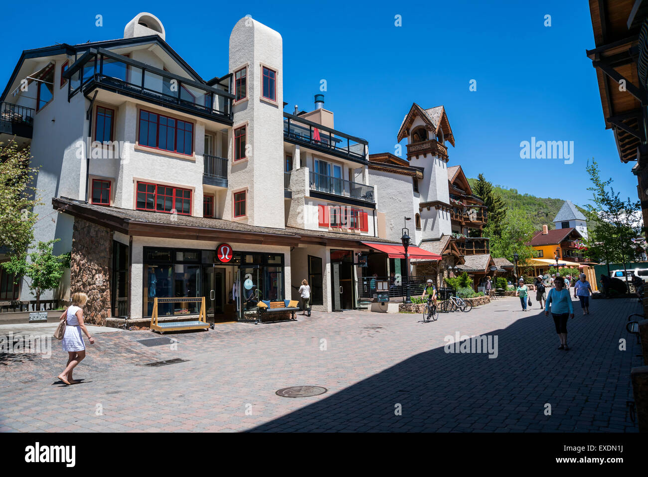 The Town of Vail , Colorado, USA, North America, United States - Stock Image