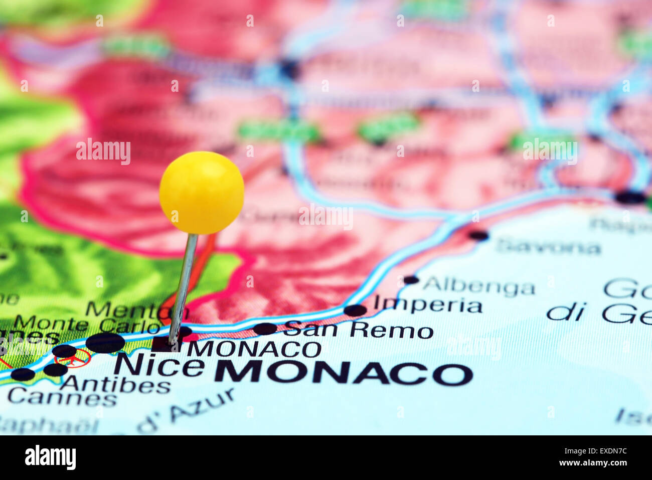Monaco Pinned On A Map Of Europe Stock Photo 85124576 Alamy