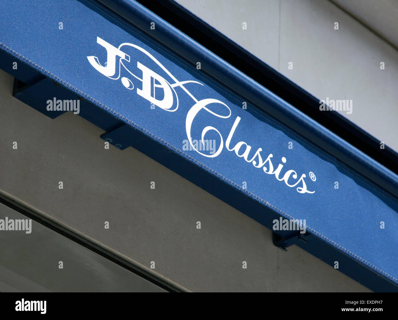 J D Classics classic car showrooms, Mayfair, London - Stock Image