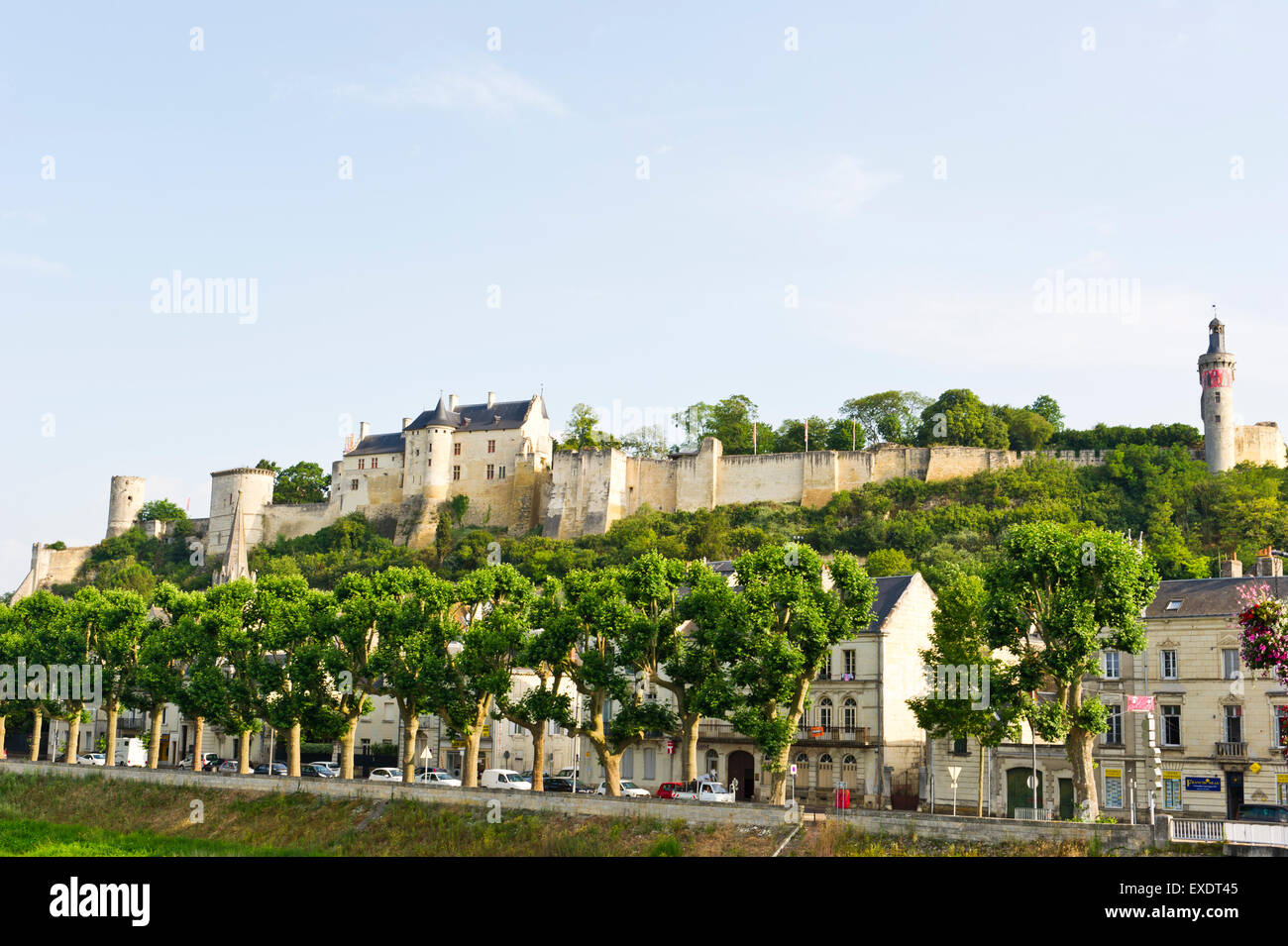 Chinon on the River Vienne, Loire Valley, France Stock Photo