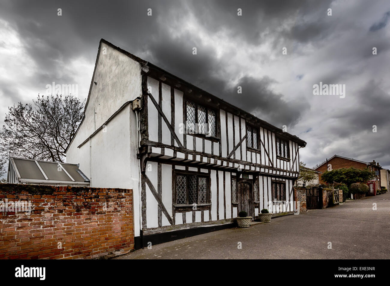 Lavenham, a medieval villages in  Suffolk. Stock Photo