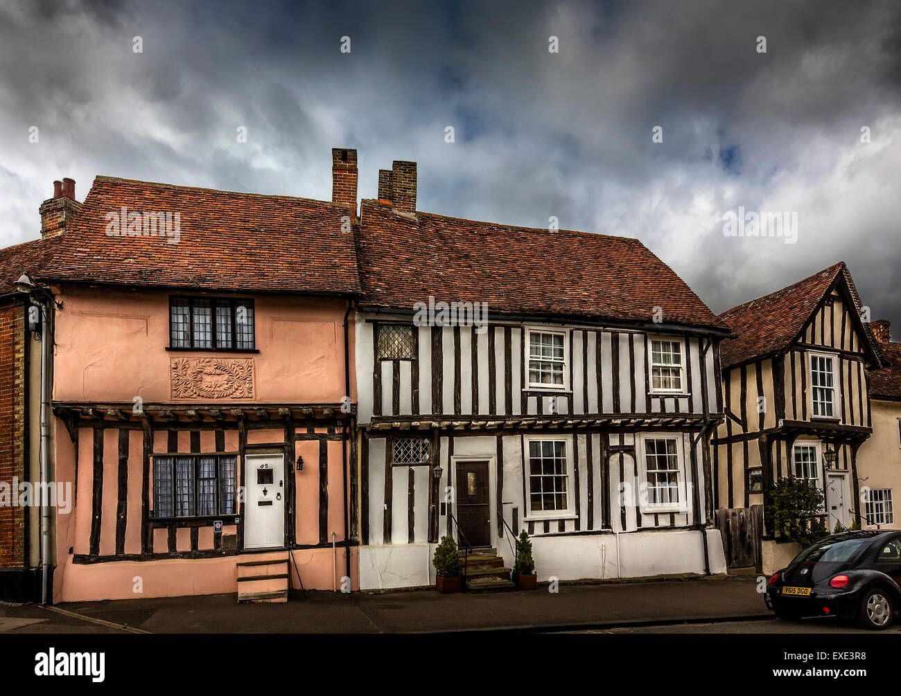 Lavenham, a medieval villages in  Suffolk. - Stock Image