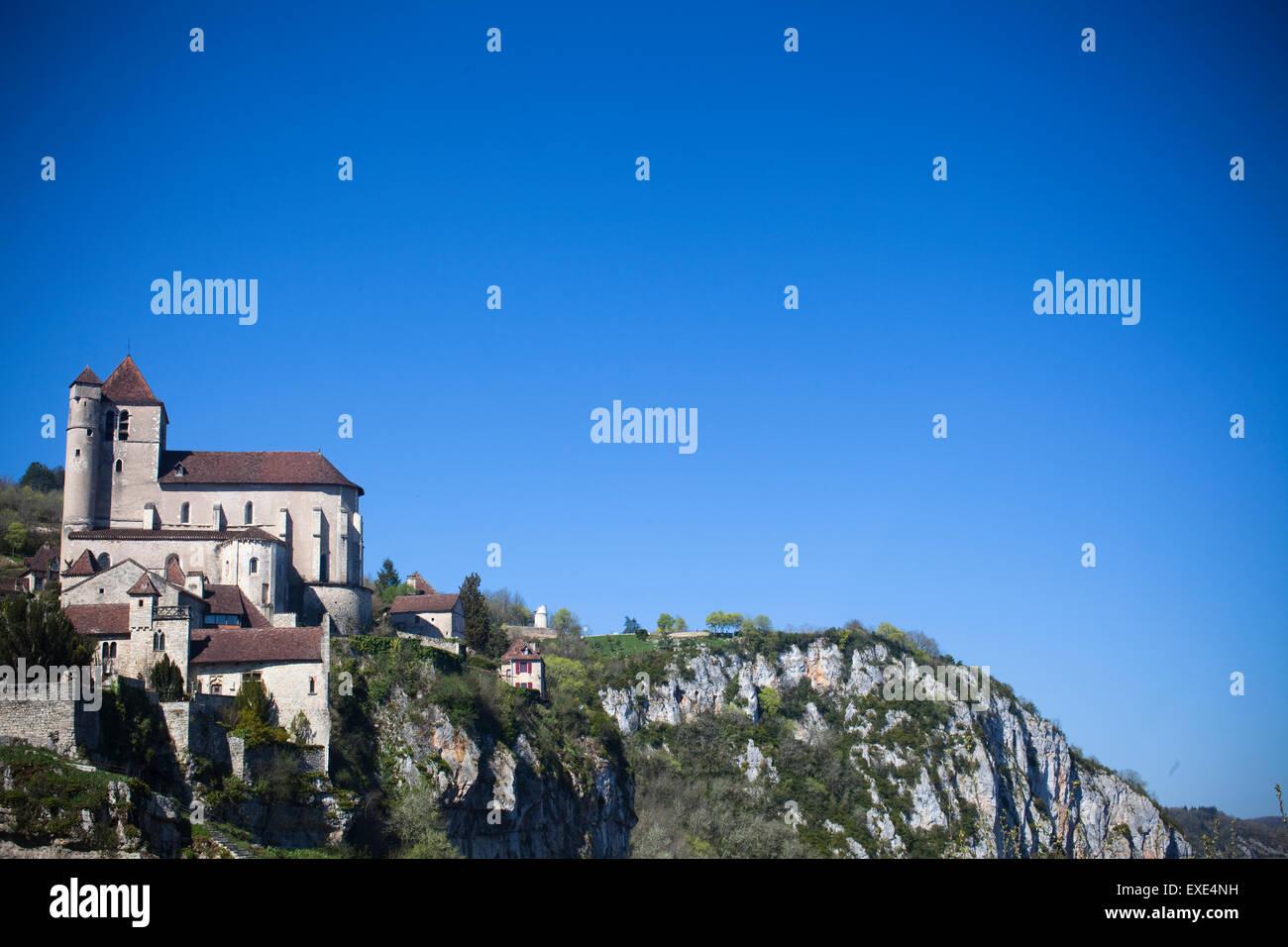 St Cirq Lapopie France Europe - Stock Image