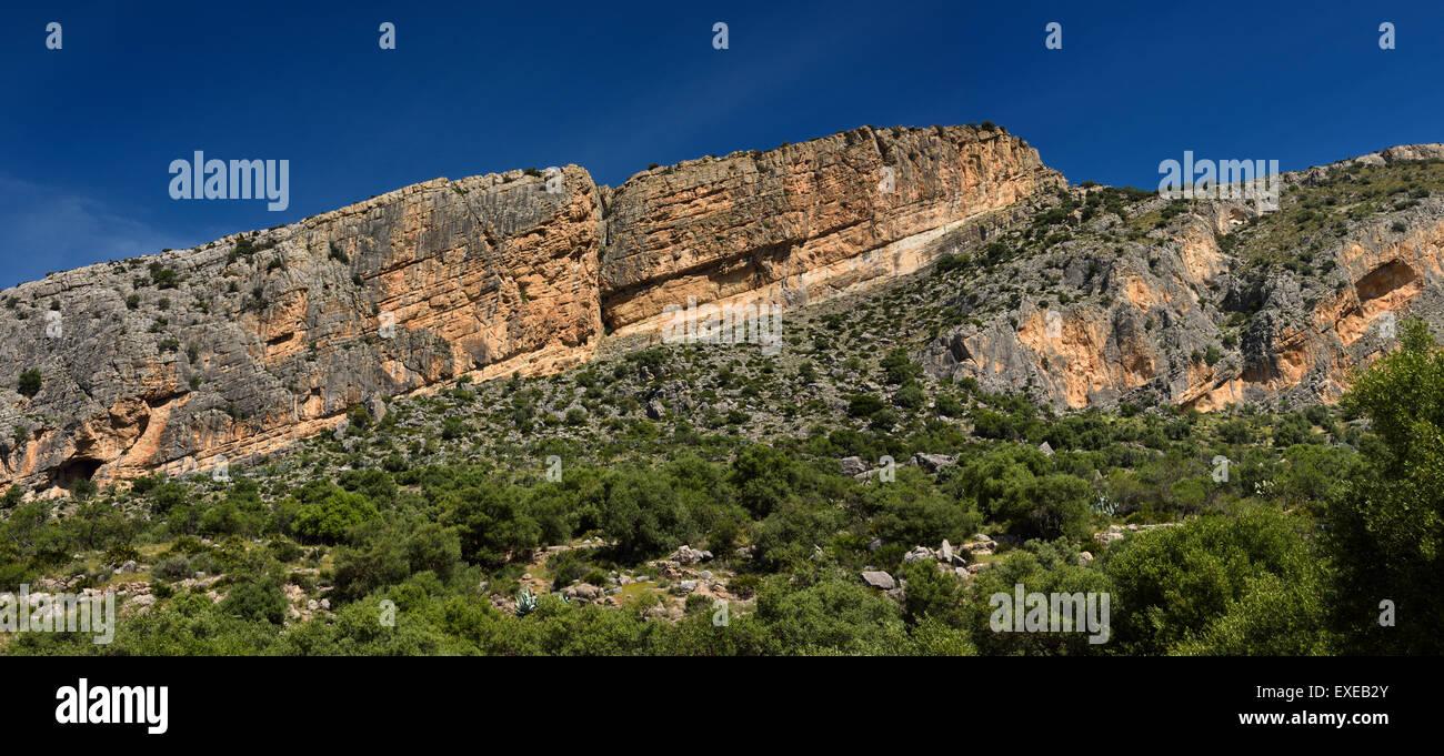 Castillon Peak of Sierra Penarrubia in the Penibaetic System of southern Spain - Stock Image
