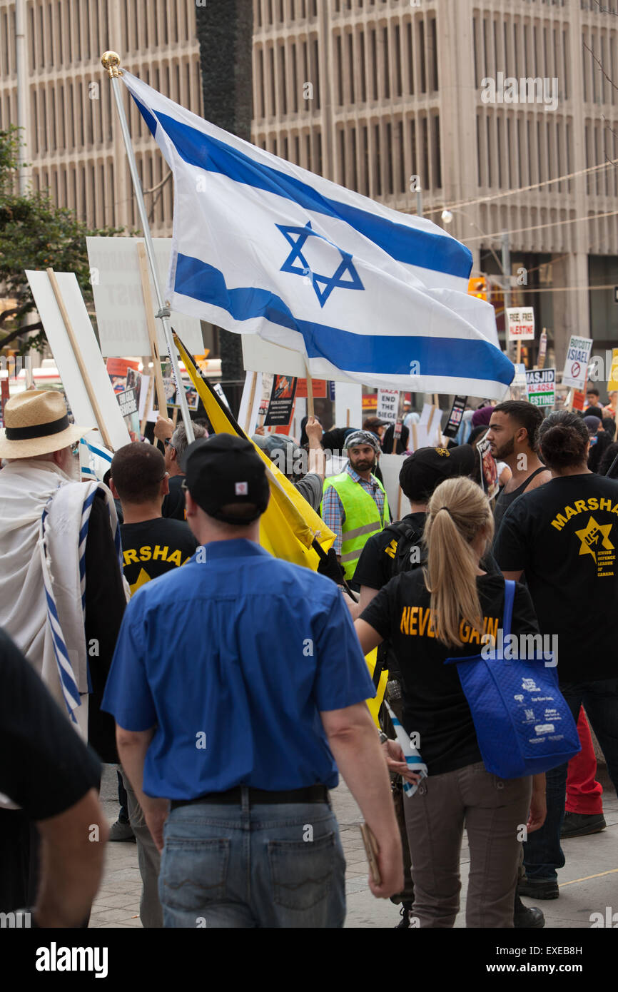 TORONTO,CANADA  JULY 11,2015:  Al Quds Day  counter-demonstration  mounted by pro-Israel citizens - Stock Image