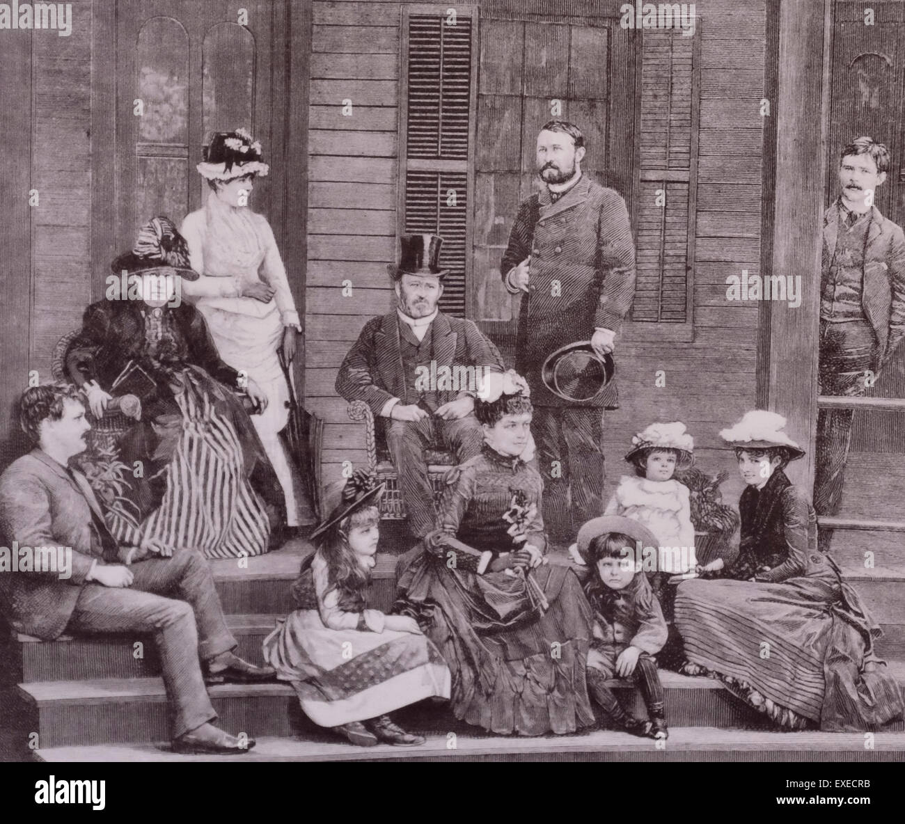 General Ulysses S Grant And Family Circa 1880