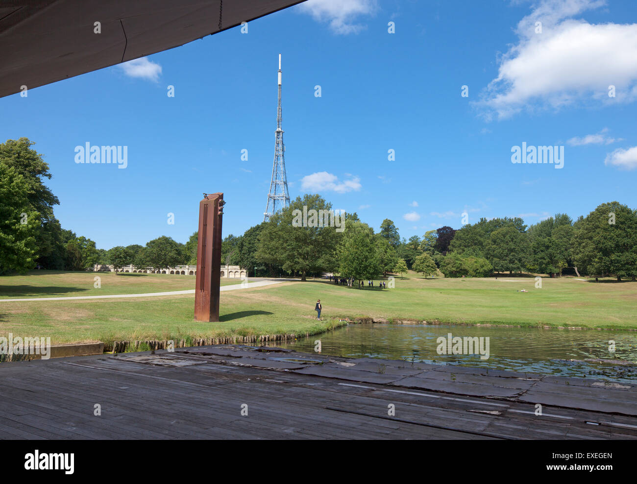 Crystal Palace concert platform. Stock Photo
