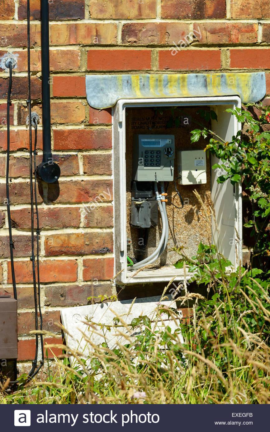 External meter box Poole, Dorset, England, UK Stock Photo