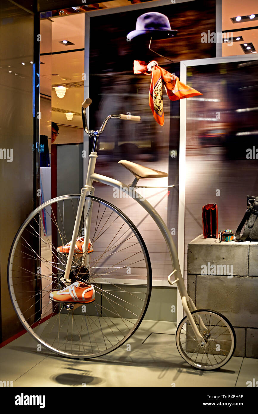 Hermes ( France French Paris ) Fashion store Kowloon Tsim Sha Tsui  China Chinese - Stock Image