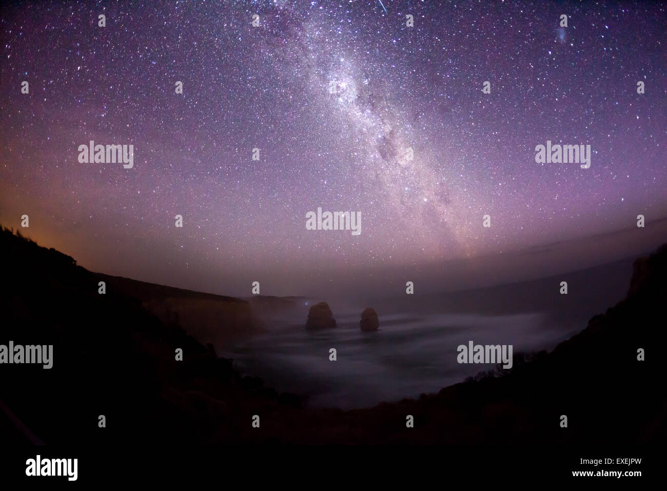 Night sky in the southern hemisphere with milky way Stock Photo
