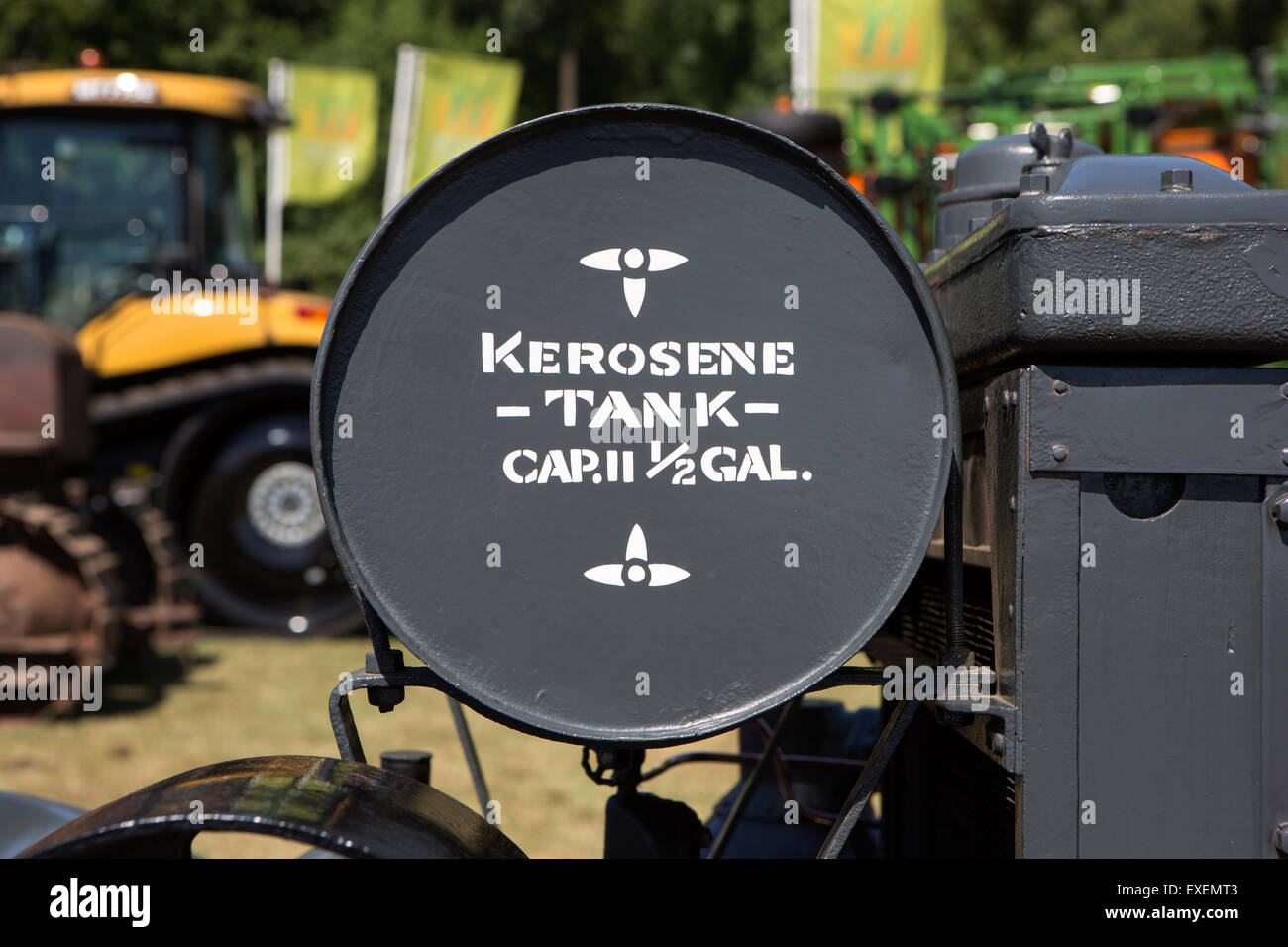Tractor Kerosene Tank - Stock Image