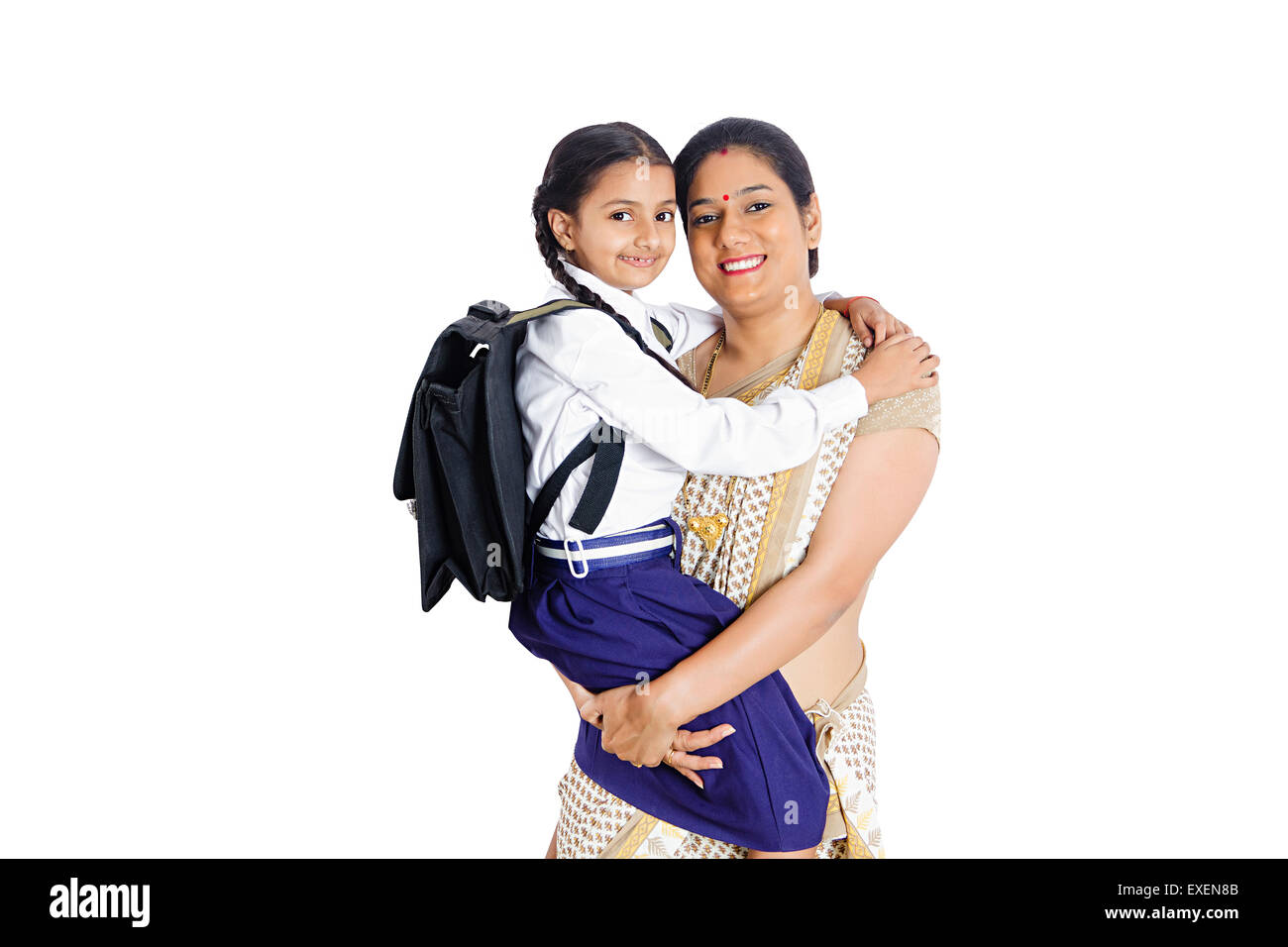 2 Indian Rural Mother With Daughter Caring Stock Photo 85146555