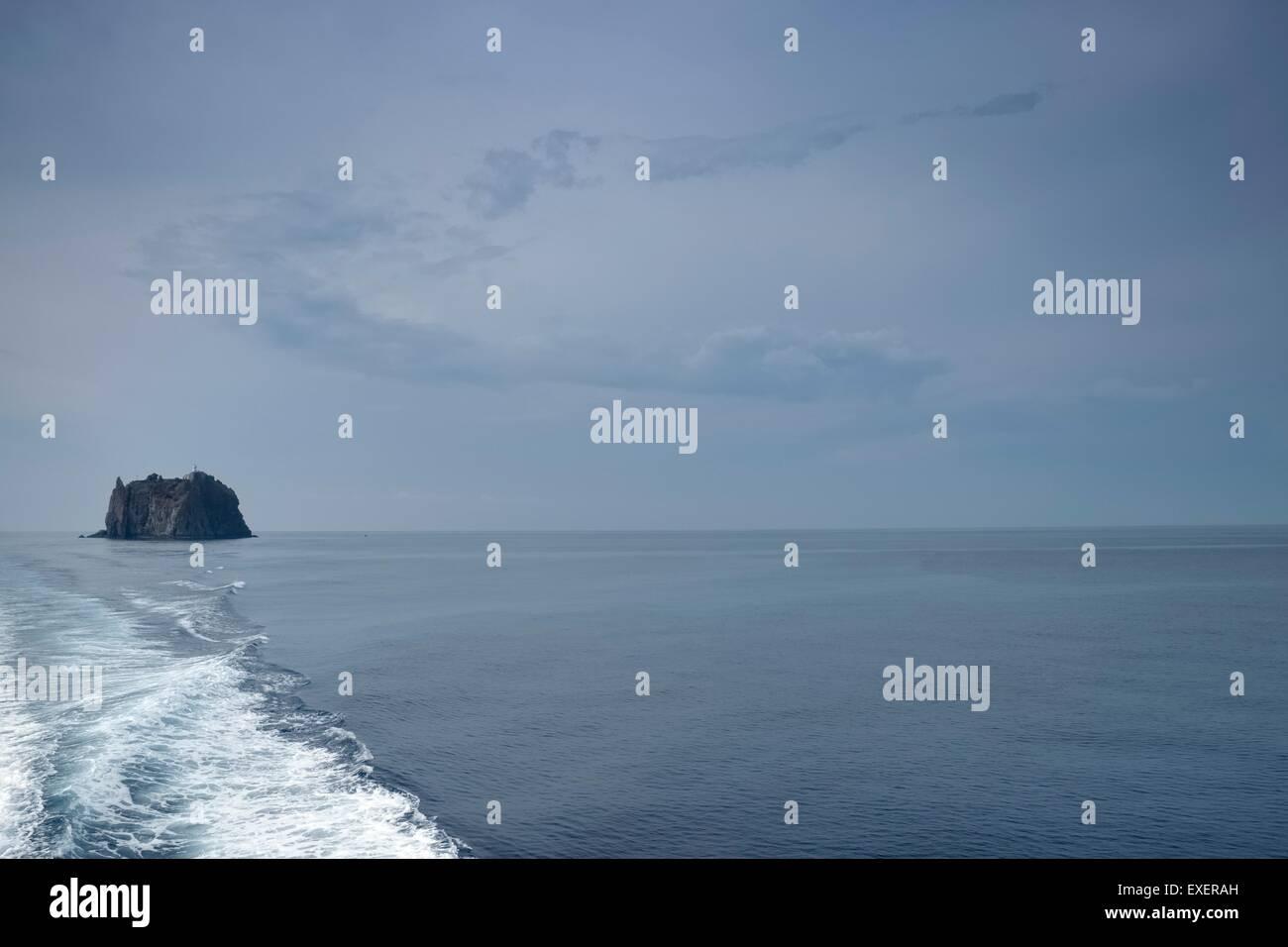 Aeolian Islands Tyrrhenian Sea, Sicily: Views of Stromboli : Strombolichio Island - Stock Image
