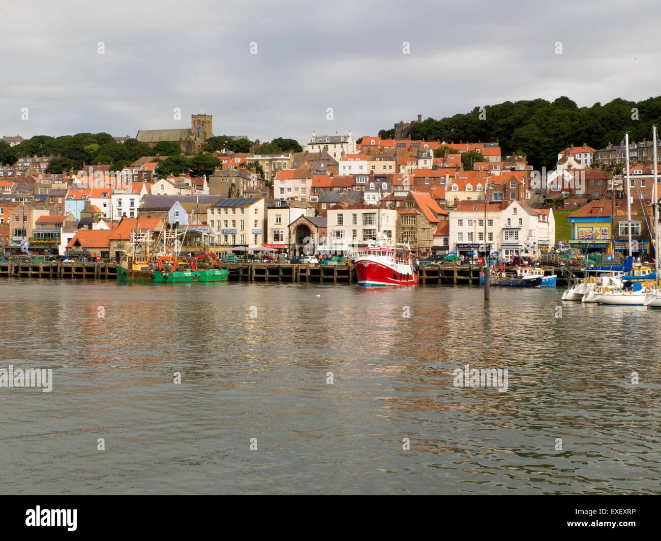 Scarborough Harbour Yorkshire UK - Stock Image