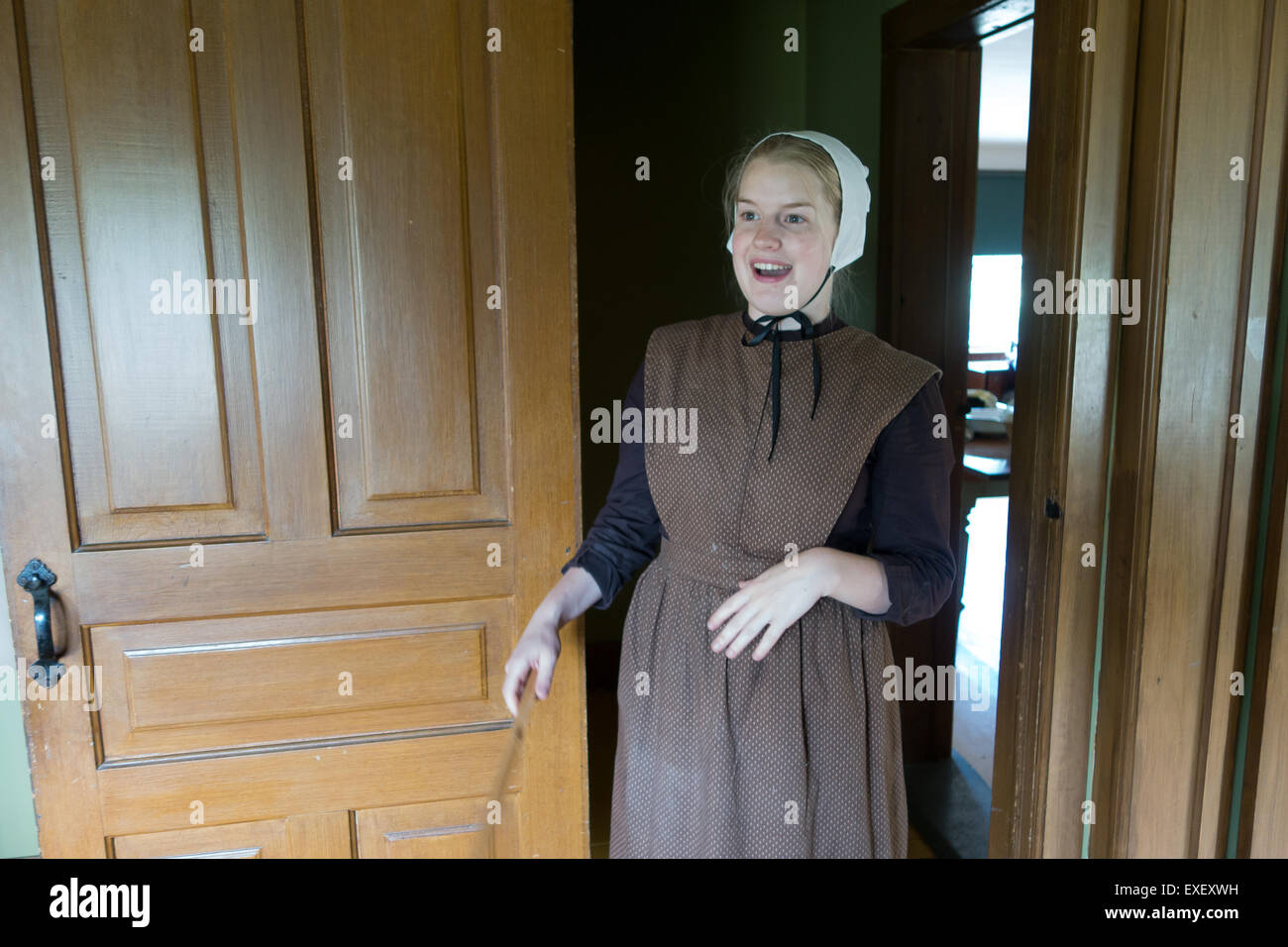 German Mennonite female woman - Stock Image
