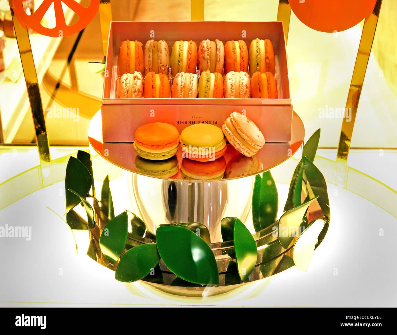 Pierre Herme Chocolate and Macaroon Bakery Shop Hong Kong China Chinese - Stock Image