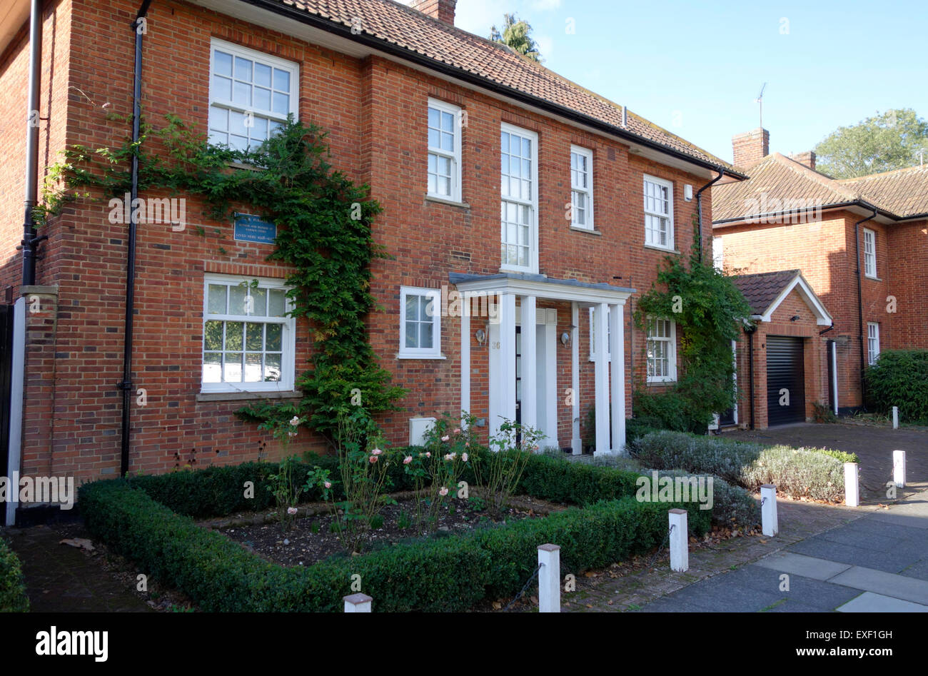 The former home of the author C B Purdom from 1928 - 1938, Welwyn Garden City - Stock Image