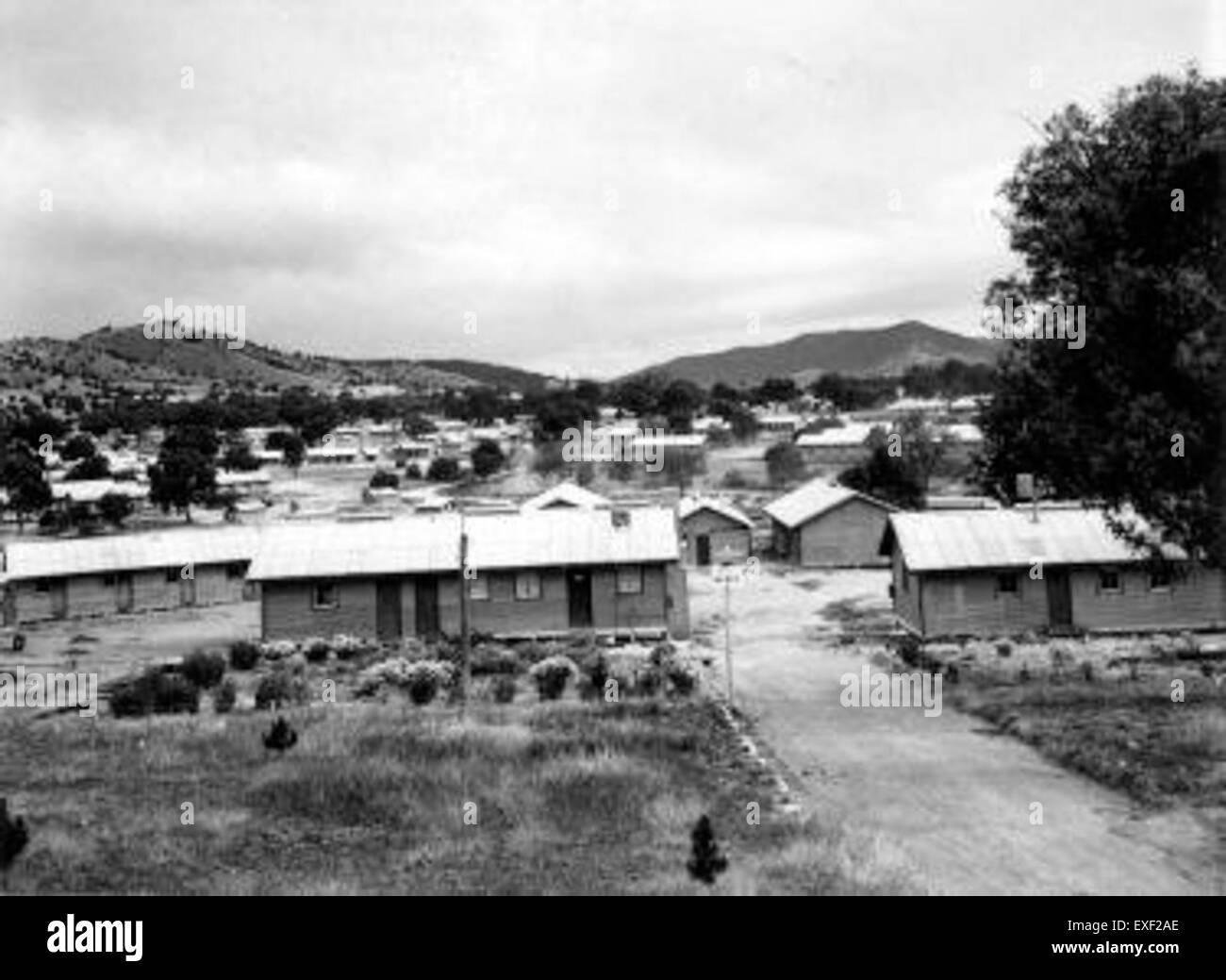 Immigrantenkamp Bonegilla in Australië - Stock Image