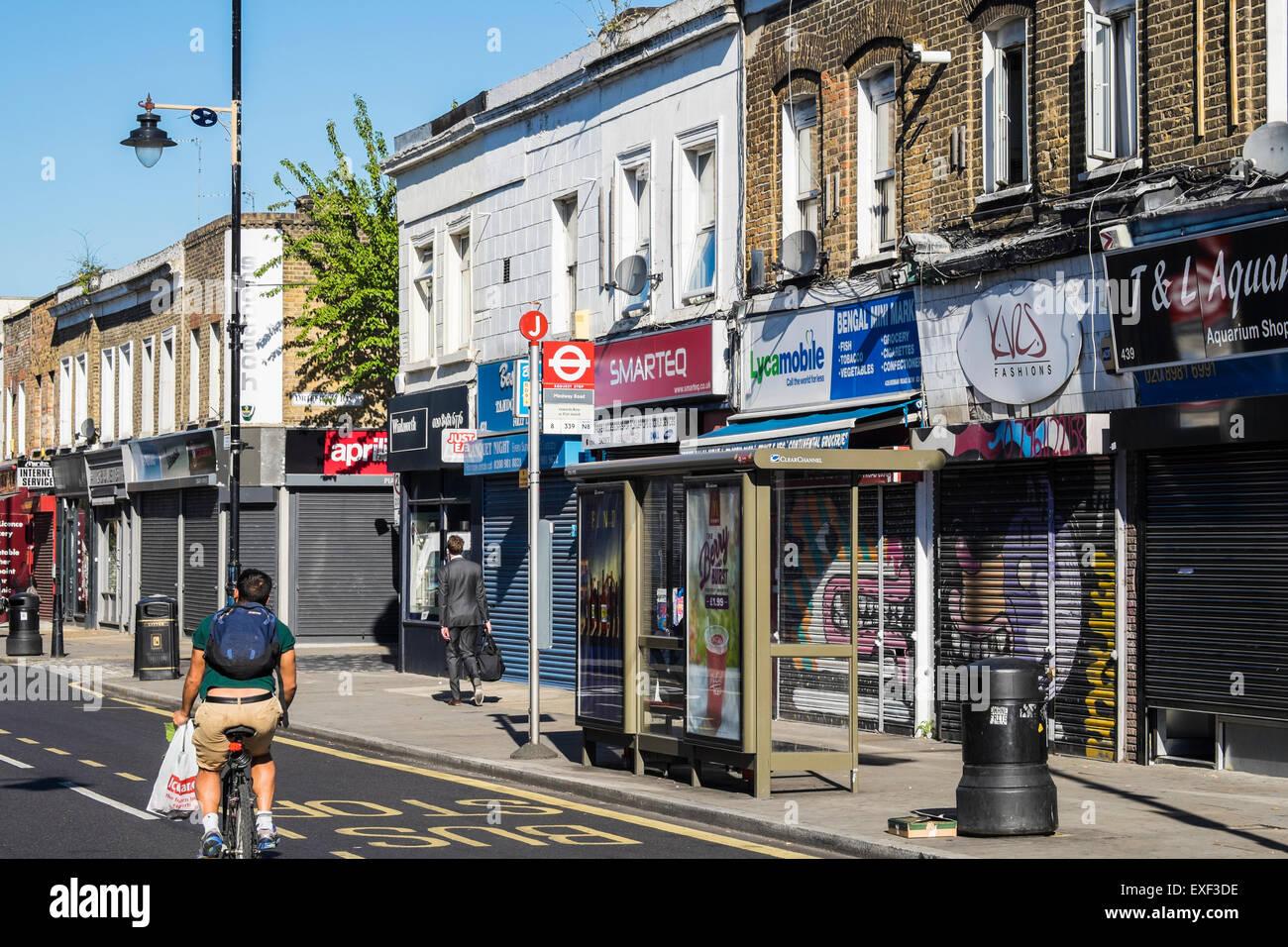Roman road shops Borough of Tower Hamlets, London, England, UK. - Stock Image