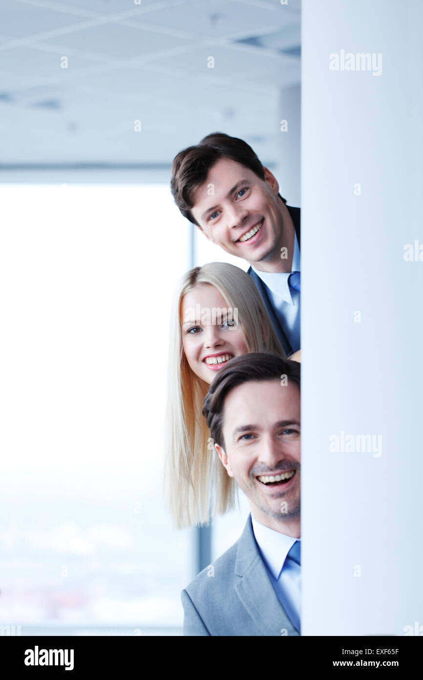Happy business people - Stock Image