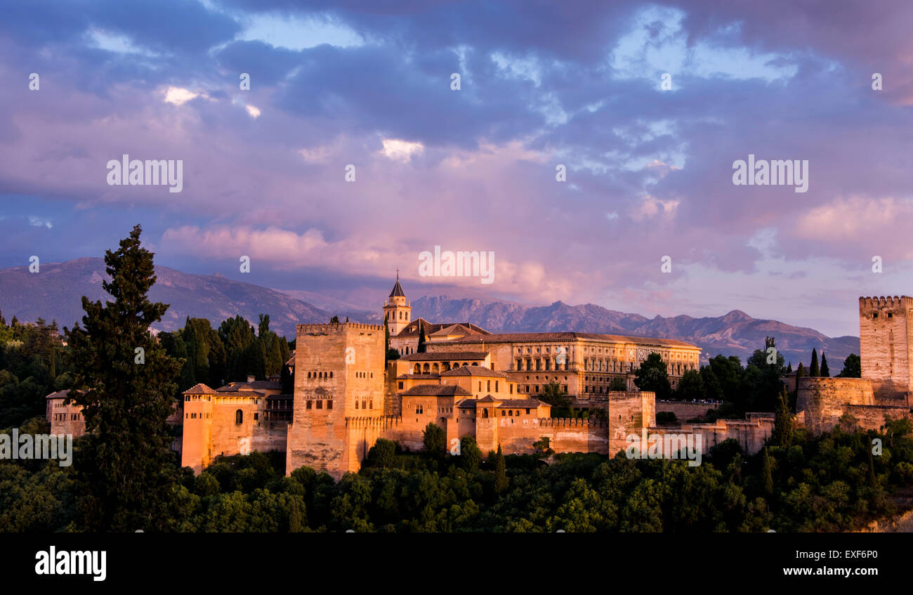 The Alhambra - Granada, Spain - Stock Image