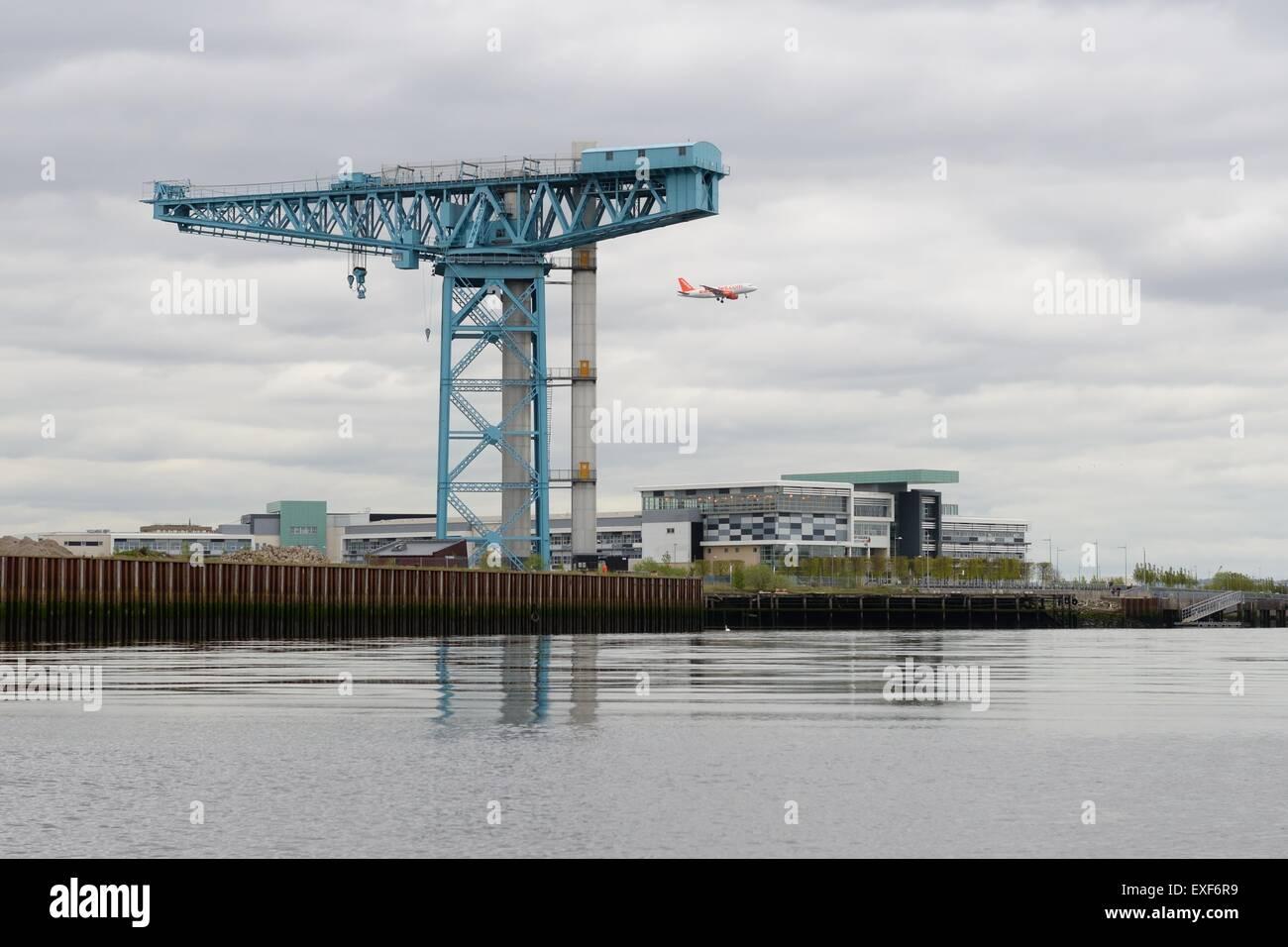 Titan crane in Clydebank, Glasgow, Scotland, UK - Stock Image