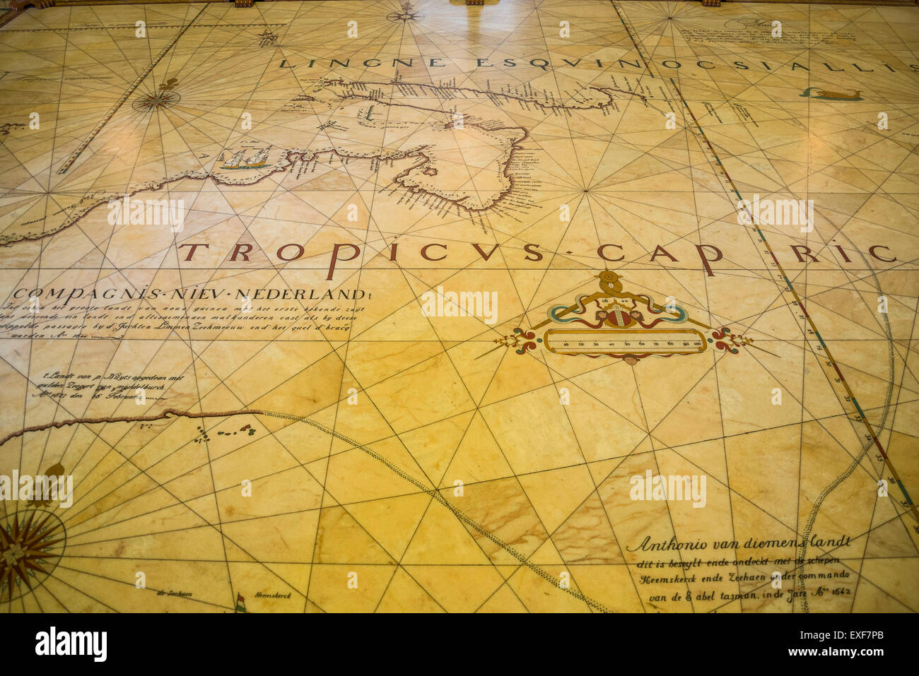 State Library of New South Wales, Floor map, Sydney, Australia - Stock Image