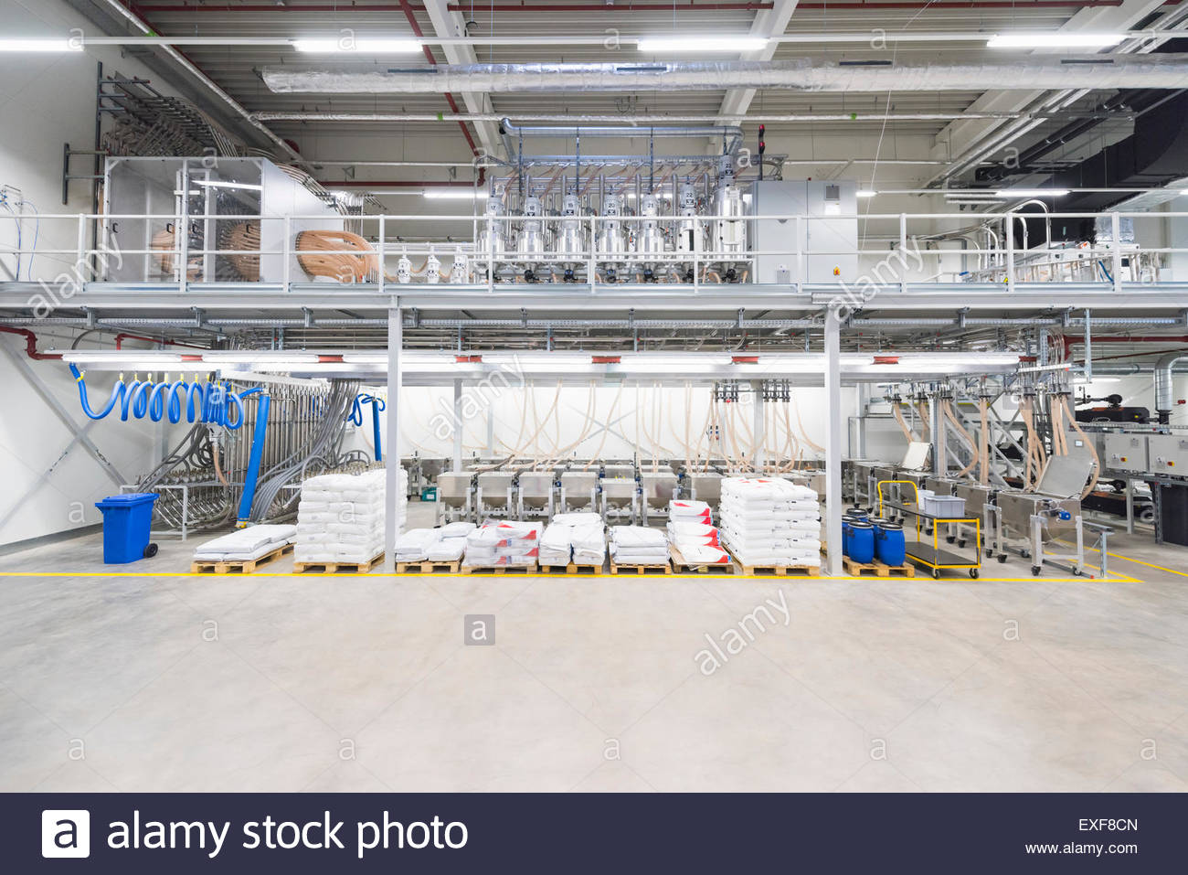 Industrial warehouse with prepared order on pallets - Stock Image