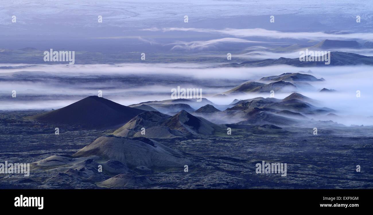Lakagigar volcanic craters, Skaftafell National Park, Iceland - Stock Image