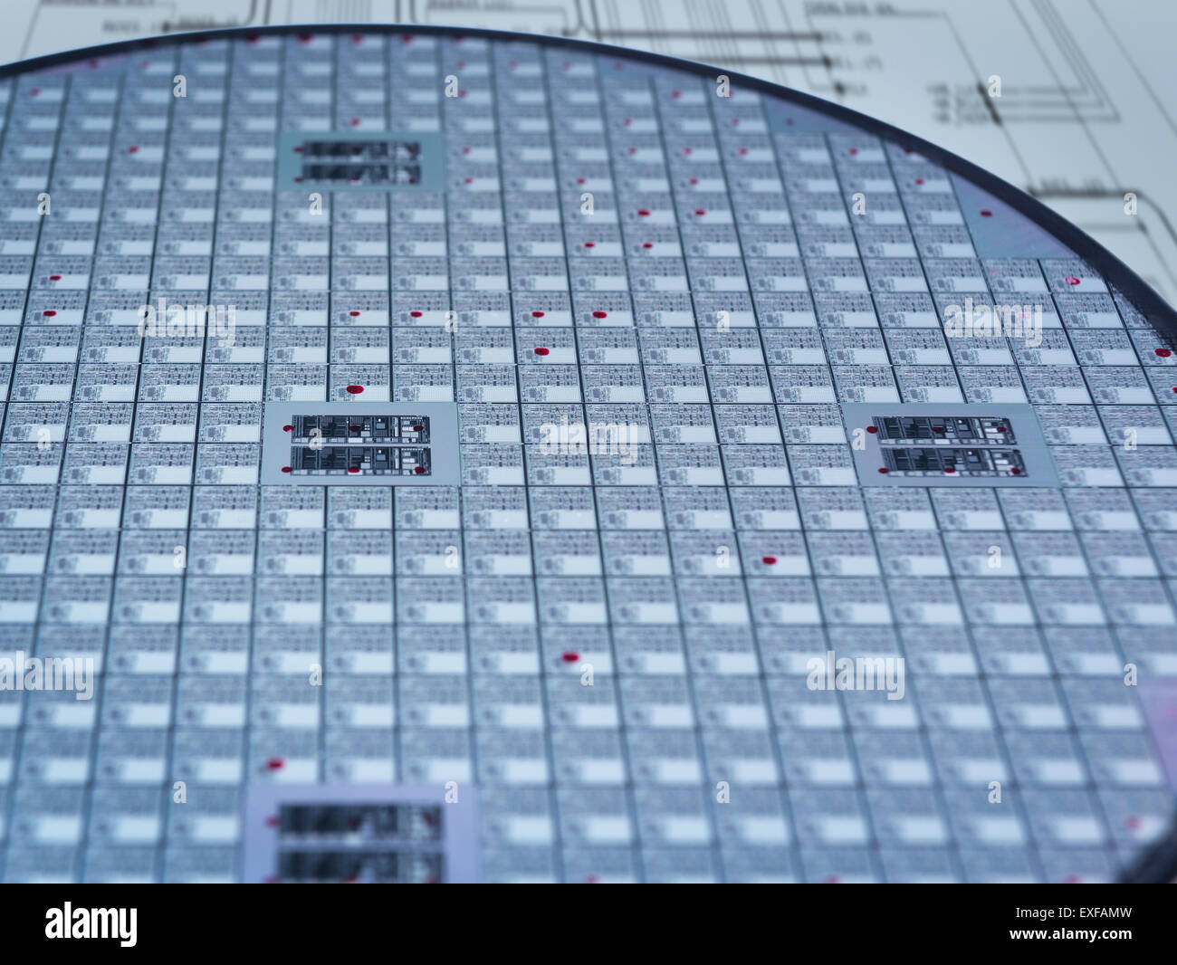 Detail of silicon wafer in laboratory Stock Photo: 85160233