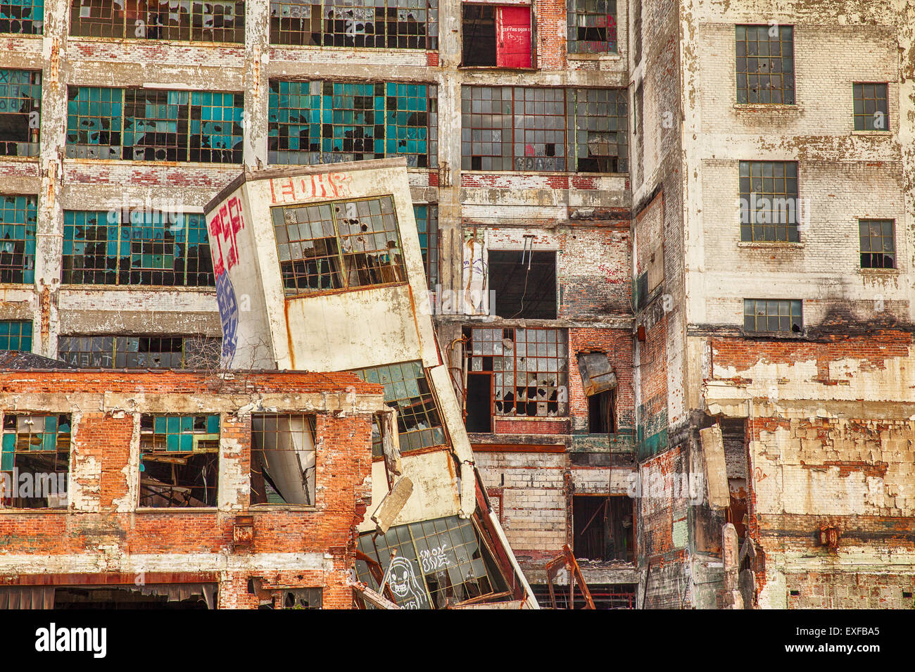 Urban Decay At Detroit Factory Stock Photo Alamy