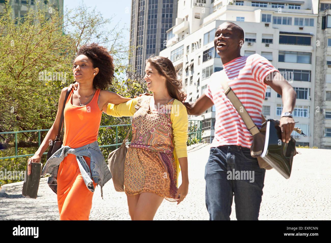Students, Rio de Janeiro, Brazil - Stock Image