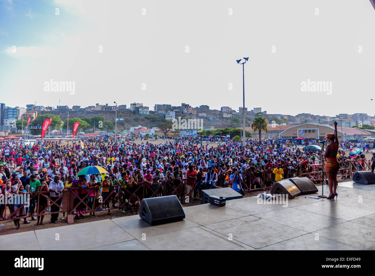 Praia, Cape Verde. 12th July, 2015, World music festival 'Badja Ku Sol' Credit:  António Gomes/Alamy - Stock Image
