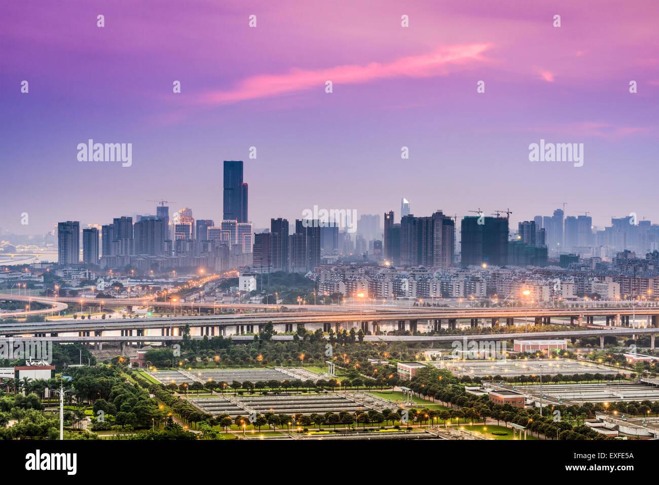 Fuzhou, Fujian, China downtown cityscape. Stock Photo