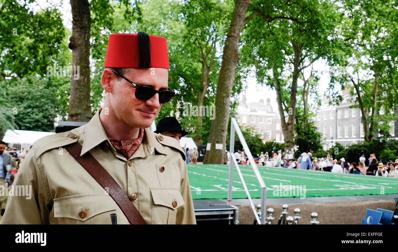 The Chap Olympiad in Bloomsbury, London. - Stock Image