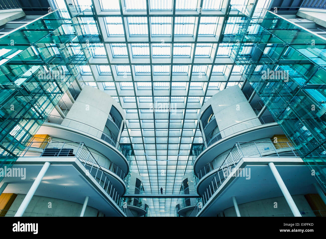 Interior of Paul Lobe Haus government building in Mitte Berlin Germany - Stock Image