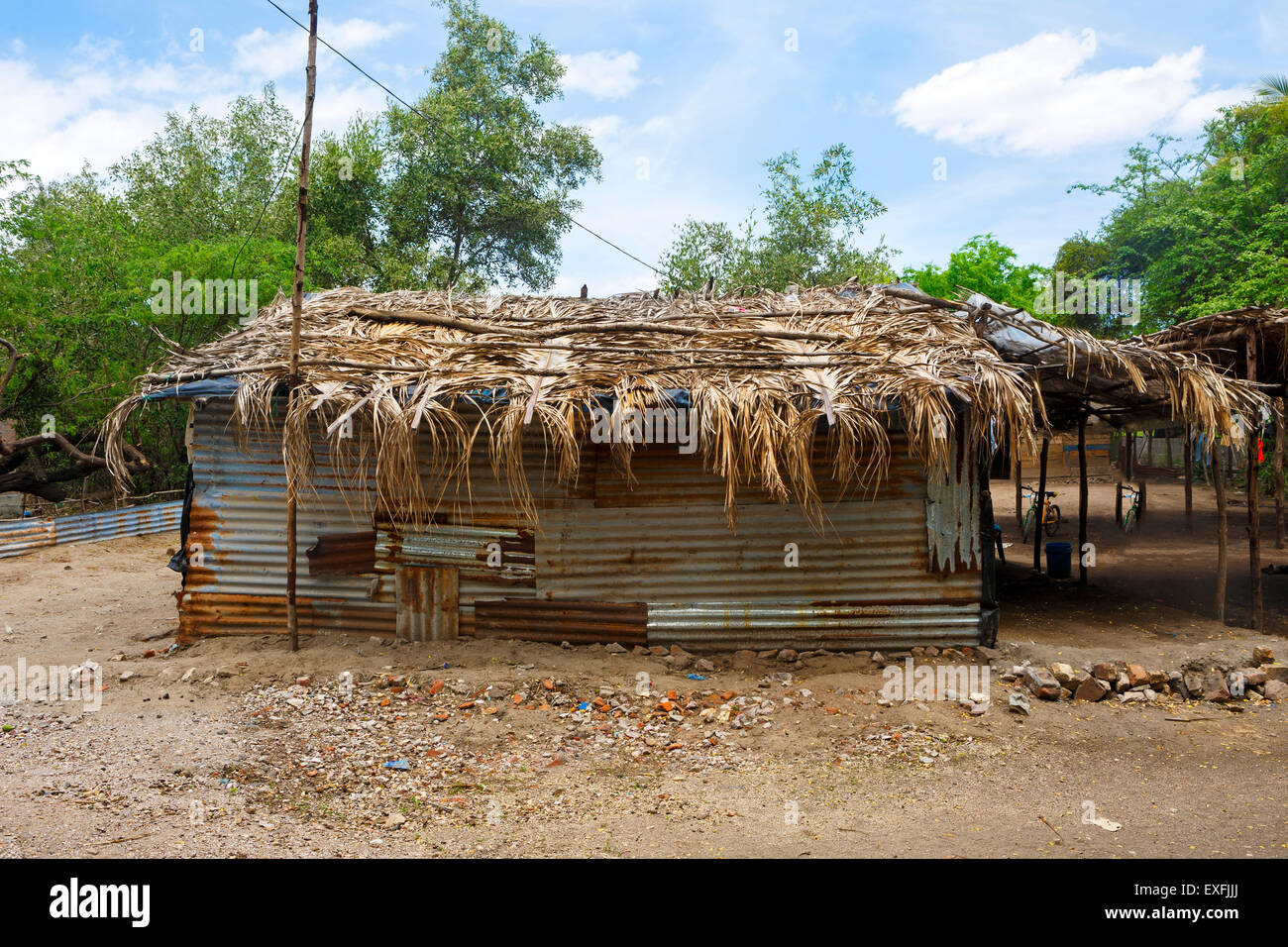 Hut in Honduras Central America - Stock Image