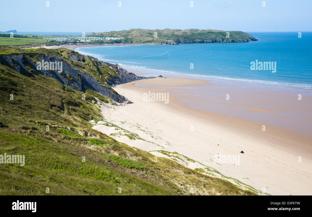 Broughton Burrows and Broughton Bay on the west coast of the Gower Peninsula in South Wales UK - Stock Image
