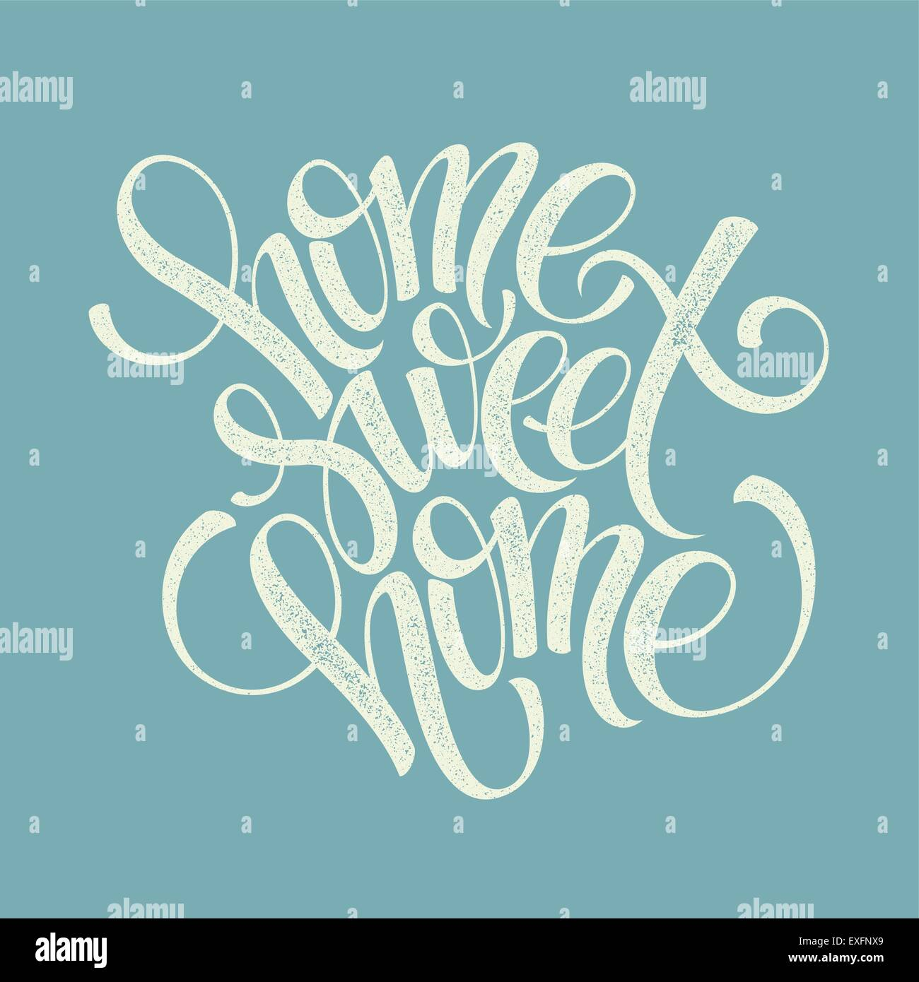 home sweet home hand lettering, vector - Stock Vector