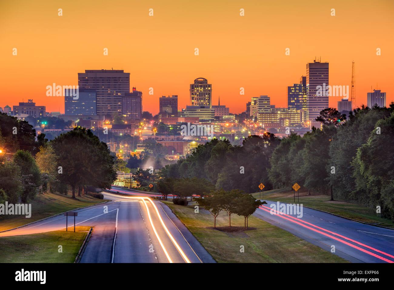 Skyline of downtown Columbia, South Carolina from above Jarvis Klapman Blvd. - Stock Image