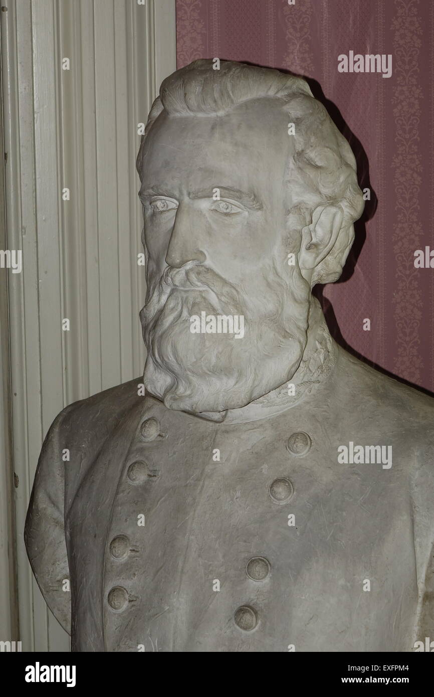 bust of Thomas Jonathan 'Stonewall' Jackson at the Stonewall Jackson's Headquarters Museum in Winchester, - Stock Image