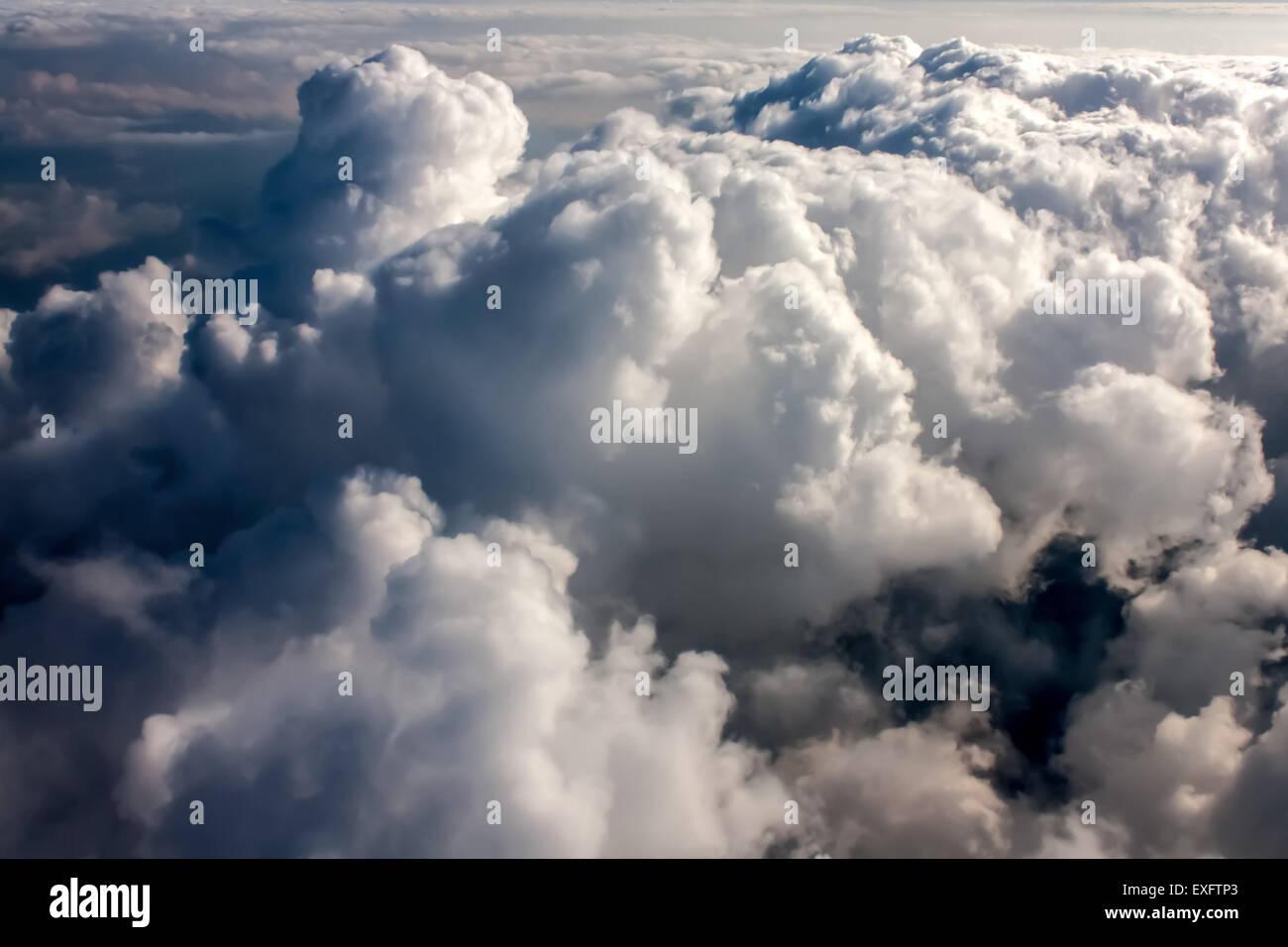 Above Dark Stormy Cumulonimbus - Stock Image