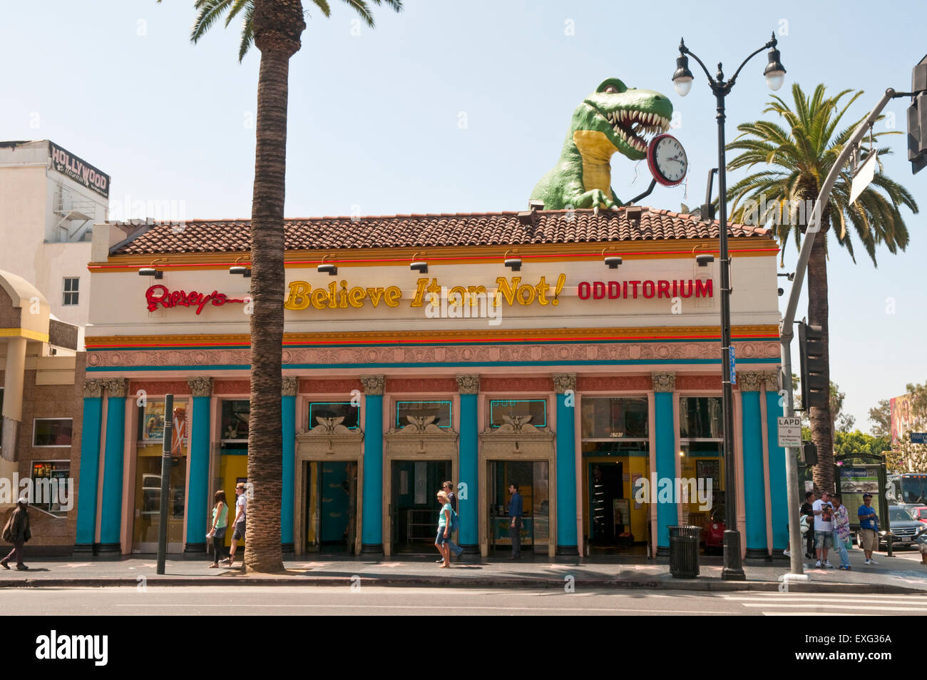 Ripley's Believe It or Not! Odditorium on Hollywood Boulevard, Los Angeles, California, USA - Stock Image