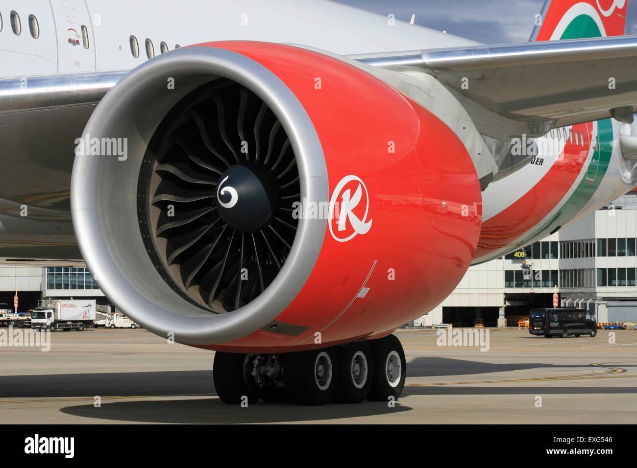 777 ENGINE POWERPLANT GENERAL ELECTRIC PRATT WITNEY ROLLS ROYCE - Stock Image